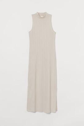 H&M Ribbed Dress - Beige