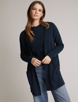Marks and Spencer Pure Cashmere Ribbed Sleeve Cardigan