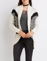 Charlotte Russe Patterned Open Cocoon Cardigan