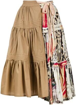 Maison Flaneur Contrast Panel Skirt