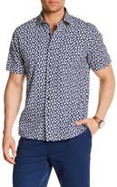Toscano Short Sleeve Floral Regular Fit Shirt