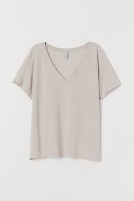 H&M V-neck T-shirt - Brown