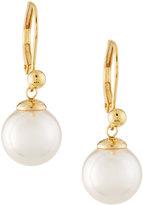 Majorica 18-karat Yellow Gold Vermeil Pearl Drop Earrings, White