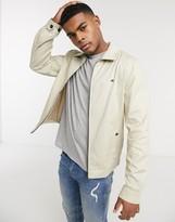 Tommy Hilfiger flag logo lightweight cotton flex Ivy harrington jacket in light stone