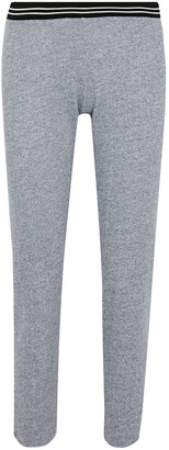 Monrow Striped Melange Jersey Track Pants