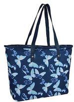 Miso Womens Canvas Tote Bag Shoulder Zip Print Printed