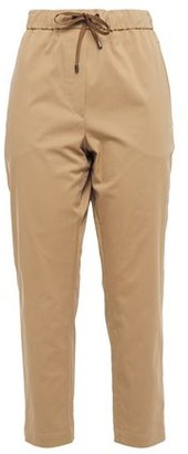 Brunello Cucinelli Cropped Cotton-blend Twill Tapered Pants