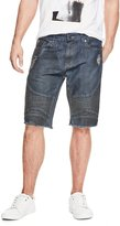 GUESS Men's Slim Pintuck Moto Shorts