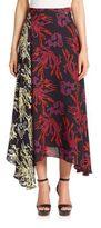 Tanya Taylor Jaskson Mixed-Print Silk Skirt