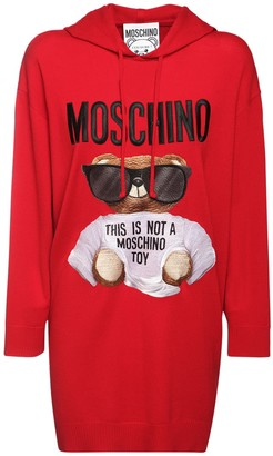 Moschino Bear Logo Cotton Knit Dress