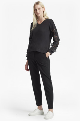 French Connection Manzoni Lace Sleeved Jumper