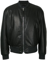 Alexander McQueen classic bomber jacket - men - Leather/Viscose - 50