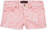 Juicy Couture Girls Denim Mini Tangier Leopard Short