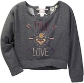 Roxy True Love Cotton Blend Sweatshirt (Big Girls)