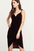 Dynamite Velvet Wrap Dress