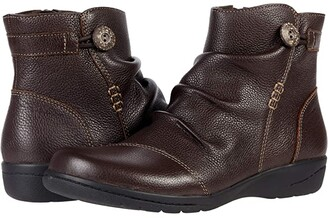 Clarks Cheyn Zoe (Dark Brown Leather) Women's Boots