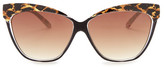 Betsey Johnson Women&s Modified Cat Eye Plastic Sunglasses