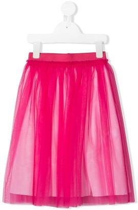 Il Gufo Pleated Tulle Skirt
