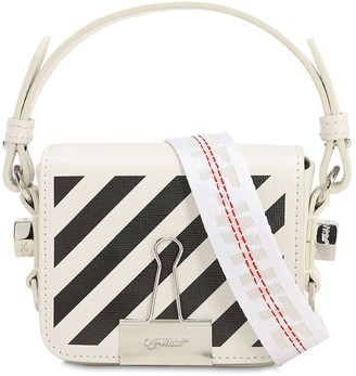 Off-White Off White MINI DIAG PRINTED LEATHER SHOULDER BAG