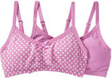 Joe Fresh Kid Girls' 2 Pack Padded Bralettes, Print 1 (Size S)