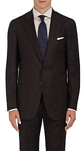 Isaia MEN'S DUSTIN WOOL-BLEND TWO-BUTTON SPORTCOAT - BROWN SIZE 40 R