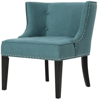 Gdfstudio GDF Studio Aria Fabric Occasional Wing Back Chair, Dark Teal