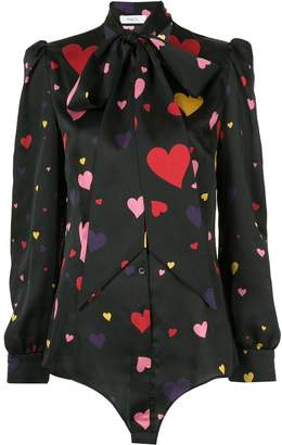 Racil neck-tied heart blouse