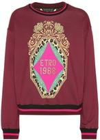 Etro Embellished cotton sweatshirt