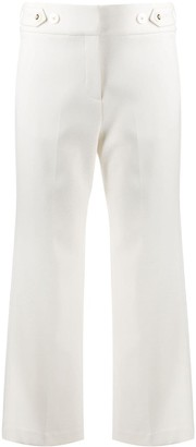 Veronica Beard Wide Leg Cropped Trousers