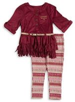 Little Lass Little Girl's Belted Tunic and Leggings Set