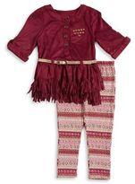 Little Lass Little Girl's Belted Tunic and Leggings Set