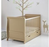 O Baby Obaby Stamford Cot Bed - Iced Coffee