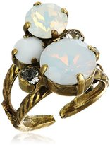 """Sorrelli Pearl Luster"""" Crystal Assorted Rounds Ring, Size 7-9"""