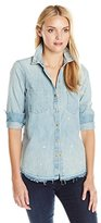 True Religion Women's Denim Utility Shirt