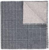 Brunello Cucinelli cashmere check frayed edge scarf