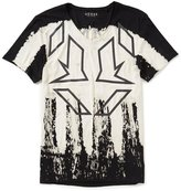 GUESS Tribal Drips V-Neck Graphic T-Shirt