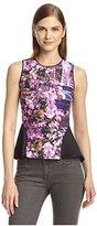Hale Bob Women's Floral Scuba Peplum Top