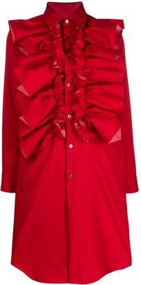 Comme des Garcons Ruffle Long-Sleeve Shirt Dress