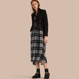 Burberry Cropped Stretch Technical Cotton Military Jacket