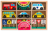 Melissa & Doug Kids' Wooden Vehicles and Traffic Signs