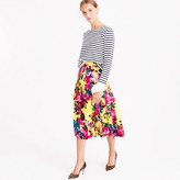 J.Crew Collection pleated midi skirt in Ratti acid rose print