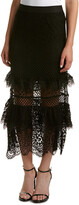 KENDALL + KYLIE Tiered Lace Maxi Skirt