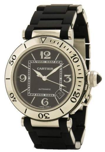 Cartier Pasha Seatimer W31077U2 Stainless Steel Automatic 40mm Men's Watch