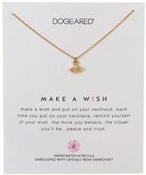 Dogeared 14K Gold Plated Sterling Silver Swarovski Crystal Make a Wish Necklace
