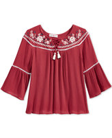 Kandy Kiss Bell-Sleeve Peasant Top, Big Girls (7-16)