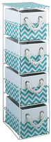 HOME Chevron 4 Drawer Storage Unit - Turquoise