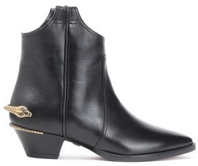Roberto Cavalli Embellished Leather Ankle Boots