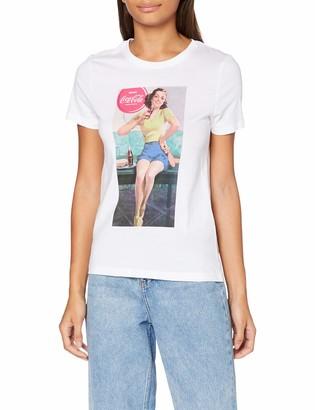 Only Women's Onlcoke Life Reg S/s Retro Top Box JRS T-Shirt
