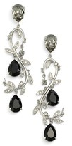 Oscar de la Renta Women's Crystal Swirl Drop Earrings