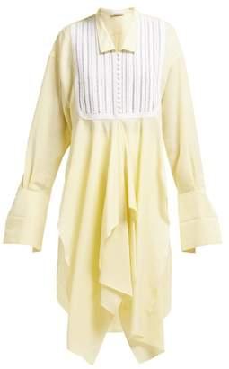 J.W.Anderson Handkerchief-hem Satin Shirt - Womens - Yellow